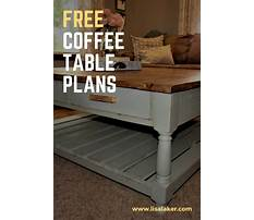 Free coffee table with drawer plans Plan