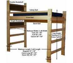 Free dorm loft bed plans Plan