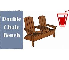 Free double adirondack chair with table plans Plan