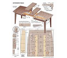 Free extension dining table plans Plan