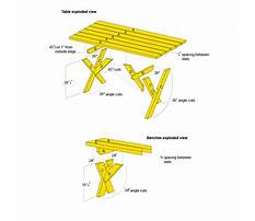 Free folding picnic table plans.aspx Plan