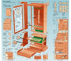 Free gun cabinet woodworking plans Plan