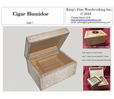 Free humidor woodworking plans Plan