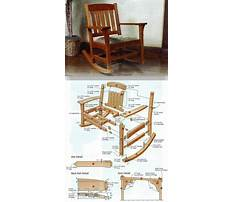 Free plans for a wooden rocking chair Plan