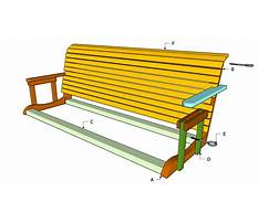 Free plans for bench swing Plan