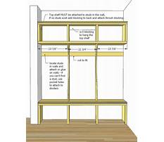 Free plans for mudroom bench Plan