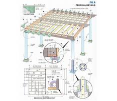 Free plans for wooden pergola details Plan