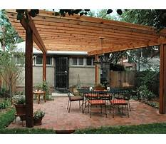 Free plans for wooden pergola with roof Plan