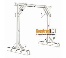 Free standing swing frame plans Plan