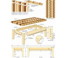 Free wood coffee table designs Plan