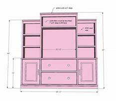 Free wood entertainment center plans Plan