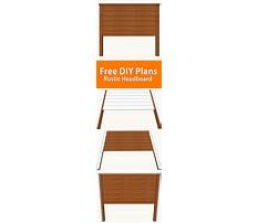 Free wood headboard plans Plan