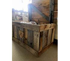 Free wood pallet projects chest Plan