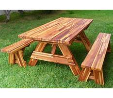 Free wooden picnic table plans Plan