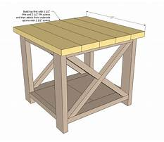 Free woodworking plans end table Plan