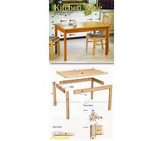 Free woodworking plans kitchen table Plan