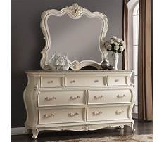 French provincial dresser with mirror Plan