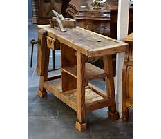 French wooden bench Plan