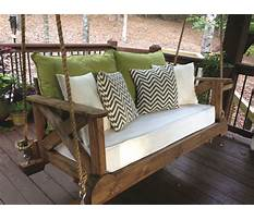 Front porch bed swings Plan