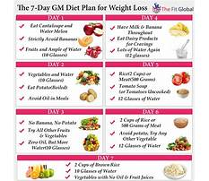 Fruit and vegetables diet menu Plan