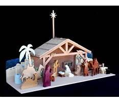 Full size wooden nativity patterns Plan