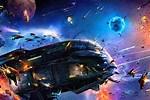 Futuristic Space Battle