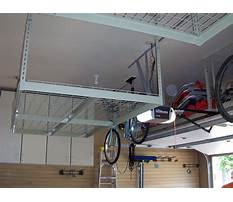Garage ceiling shelving systems Plan