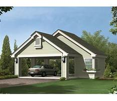 Garage plans with carport in front Plan