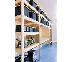Garage shelving storage systems Plan