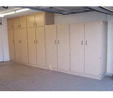 Garage wall cabinets and storage Plan