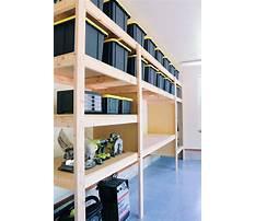 Garage wall shelves storage Plan