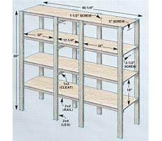 Garage wood shelf plans Plan