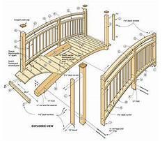 Garden arch bridge design Plan