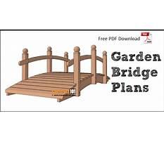 Garden arch bridges Plan