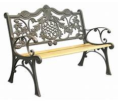 Garden bench cast iron heavy modern Plan