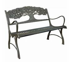 Garden bench cast iron Plan