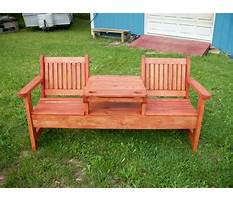 Garden bench with table in middle plans Plan