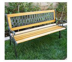 Garden benches cast iron and wood Plan