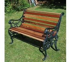 Garden benches cast iron Plan