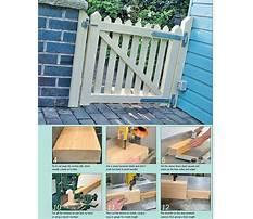 Garden gates wood Plan