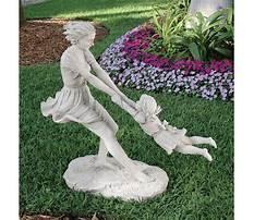 Garden statues of children Plan