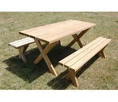 Garden tables and benches Plan