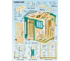 Garden tool shed diy Plan