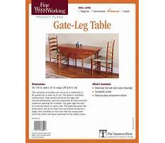 Gate leg table plans Plan