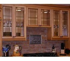 Glass cabinet door fronts Plan