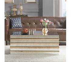 Gold mirror coffee table Plan