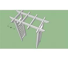 Grape arbor blueprints Plan
