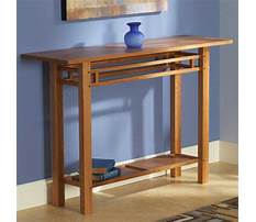 Hall tables for entryway Plan