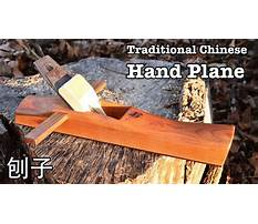 Hand plane traditional chinese woodworking tool Plan