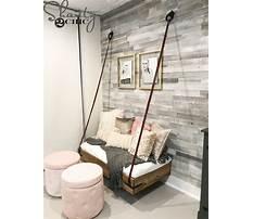 Hanging bench diy Plan
